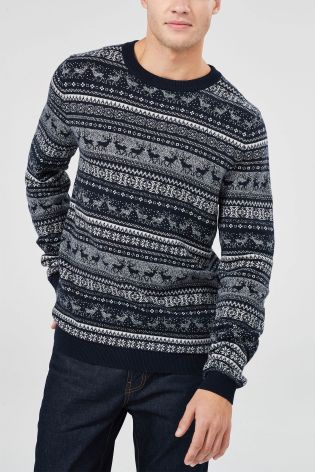 It isn't the holidays without the perfect Christmas jumper! Whether you need some festive knitwear for Christmas Jumper Day at work, or you fancy a sweater for Boxing Day with the family, our collection of men's Christmas jumpers has you covered.