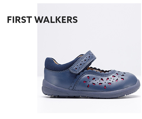 Shop baby girls first walking shoes here