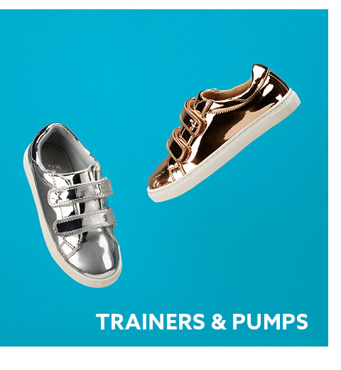 Browse here for girls trainers and pumps collection