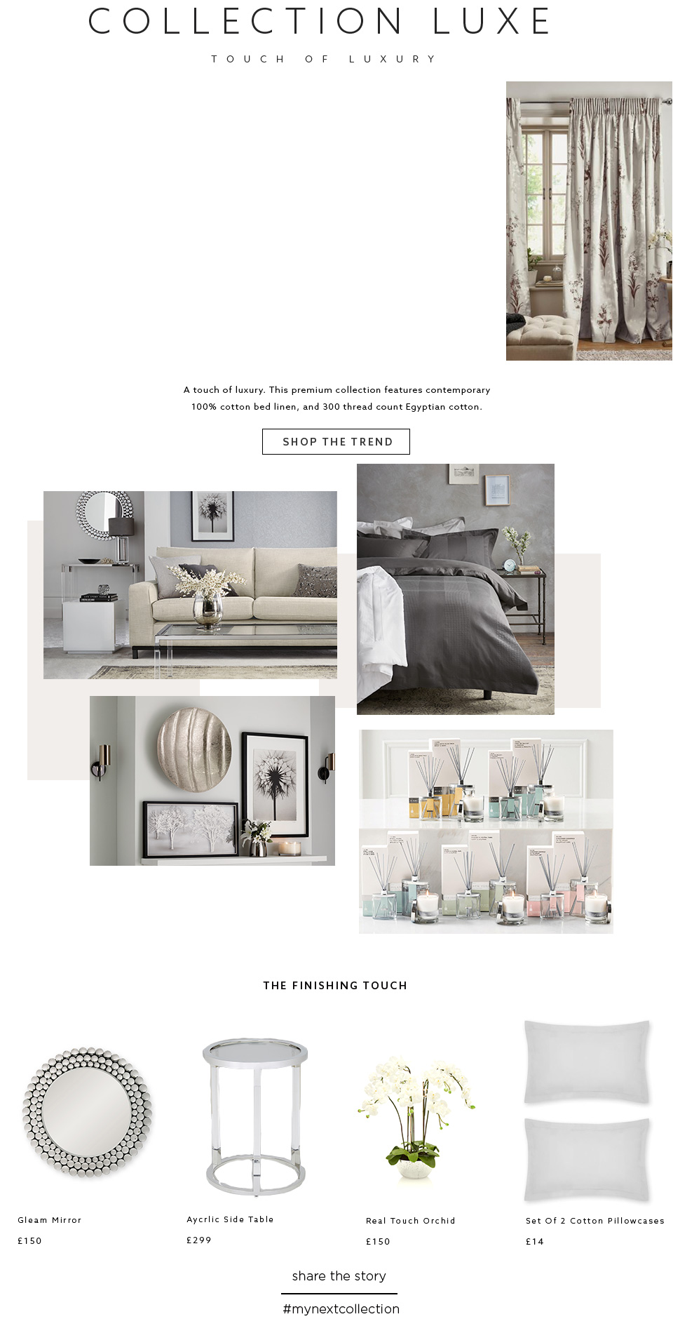 luxe bed linen collection bed sets bed sheets accessories next. Black Bedroom Furniture Sets. Home Design Ideas