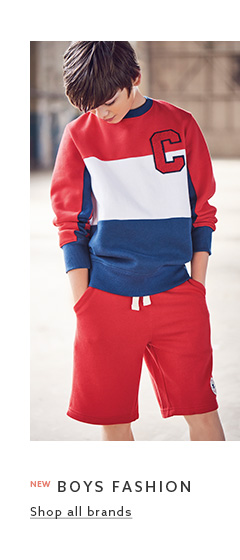 Browse the fashion clothing collection for boys