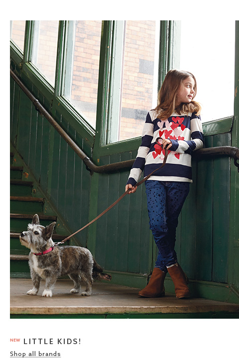 Browse the branded clothing collection for little here