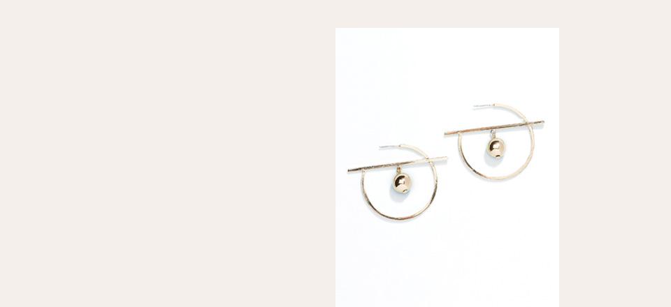 Shop Gold Tone Inner Sphere Hoop Earrings