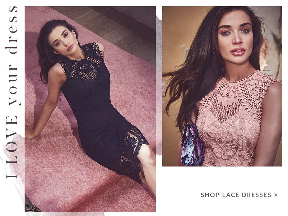 Shop lace dresses here