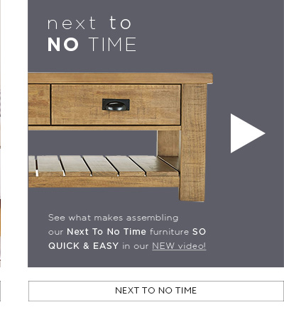 Homeware Tips & Advice - Next to no time video
