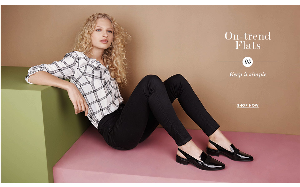 Shop Womens Shoeroom  - On trend flats here