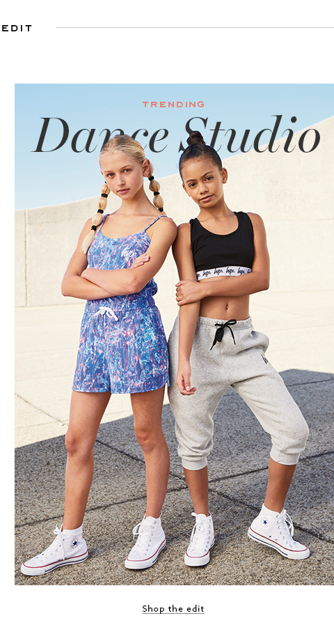 Dance studio clothing store