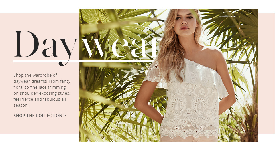 From cute tops to casual dresses, shop daytime looks from Lipsy.