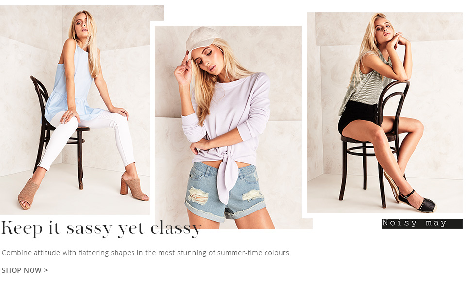 Get a classy look with theis new range of summer wear by noisy may.