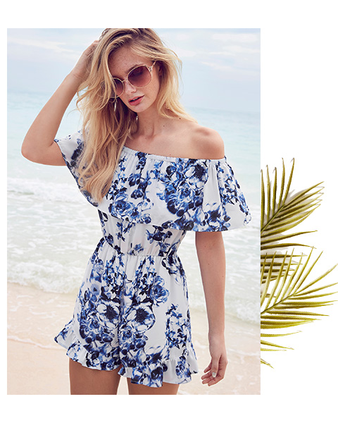 Shop the latest collection of frill floral playsuits here